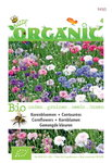 Biologische Korenbloem bloemenmix zaden