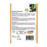 Horti Tops Aubergine mini Ophelia F1 Solanum melongena zaden achterkant