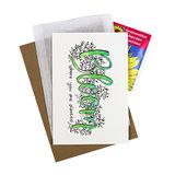 Bloom where you are planted - bedankje zaden met kaart in pergamijn zakje