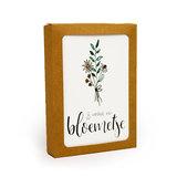 Jij verdient een bloemetje - Bedankje zaden in glazen flesje met kaart en standaard _