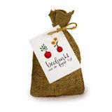Bedankt voor de fijne tijd - Bedankje zadenpakket in jute zakje_