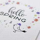 Hello spring - Bedankje zaden in glazen flesje met kaart en standaard _