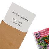 Bedankje zaden in kraft zakje met kaartje - Bedankt voor de samenwerking_