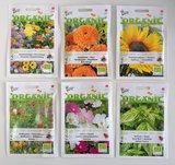 Bedankt en veel zaaiplezier - biologisch zadenpakket met ansichtkaart _