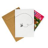 Een hart onder de riem - bedankje zaden in kraft zakje met kaartje_