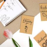 Let it bloom - bedankje zaden in kraft zakje met kaartje_