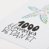 Bloeikaart '1000 bloemetjes bedankt' _