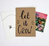 Let it grow - bedankje zaden in kraft zakje met kaartje_