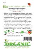 Biologische Citroenmelisse zaden - achterkant