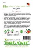 Biologische Dille zaden - achterkant