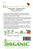 Biologische Koriander zaden - achterkant