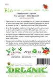 Biologische Lavendel zaden - achterkant
