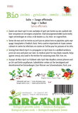 Biologische Salie zaden - achterkant