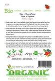 Biologische Tijm zaden - achterkant