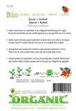 Biologische Kervel zaden - achterkant