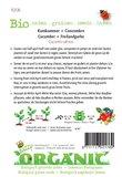 Biologische Komkommer Marketmore zaden - achterkant