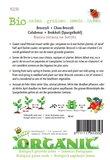 Biologische groene Broccoli Calabrese zaden - achterkant