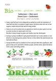 Biologische Mais Golden Bantam zaden - achterkant