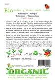 Biologische Watermeloen Crimson Sweet zaden - achterkant