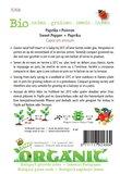 Biologische Paprika California Wonder zaden - achterkant