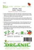 Biologische Gekrulde Peterselie zaden - achterkant
