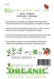 Biologische Rucola gewone zaden - achterkant