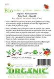Biologische Groene Snijbiet Witribbige zaden - achterkant