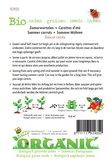 Biologische Zomerwortelen Nantes zaden - achterkant