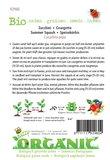 Biologische Courgette Black Beauty zaden - achterkant