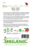 Biologische Spinazie Securo zaden - achterkant
