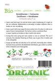 Biologische Korenbloem bloemenmix zaden - achterkant