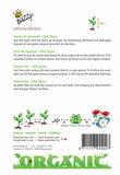 Biologische Reuk- of siererwt - Old Spice zaden achterkant