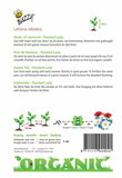 Biologische Reuk- of siererwt - Painted Lady zaden achterkant