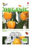 Biologische Paprika - Yellow California Wonder zaden voorkant