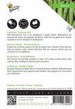 Tuinbonen Driemaal Wit zaden - achterkant