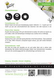 Zomerbloemen Witte Tinten zaden - achterkant