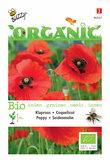 Biologische Klaproos Rood Papaver zaden - voorkant