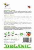 Biologische Suikermeloen Charentais zaden - achterkant