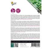 Citroenbasilicum kiemgroenten zaden - achterkant
