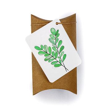 Groen blad - bedankje zaden in gondeldoosje