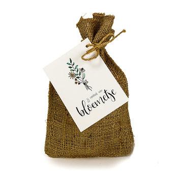 Jij verdient een bloemetje - Bedankje zadenpakket in jute zakje