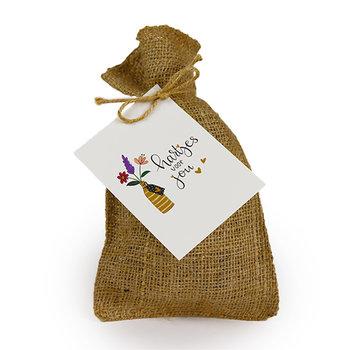 Hartjes voor jou - Bedankje zadenpakket in jute zakje