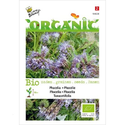 Biologische blauwe Phacelia Bijenvoer zaden