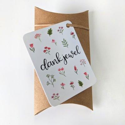 Dankjewel - bedankje zaden in een gondeldoosje
