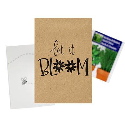 Let it bloom - bedankje zaden in kraft zakje met kaartje