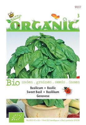 Biologische Basilicum Genovese zaden