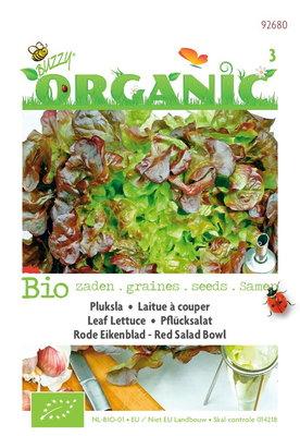 Biologische Pluksla Red Salad Bowl (rode eikenbladsla)