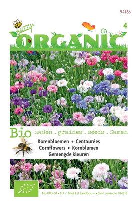 Biologische Korenbloem bloemenmix