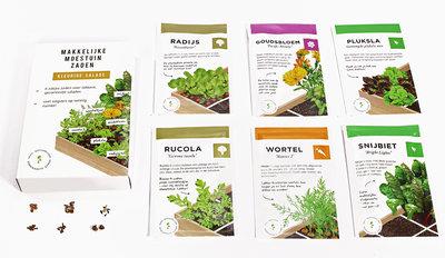 Makkelijke Moestuin zaden 'Kleurige Salade'