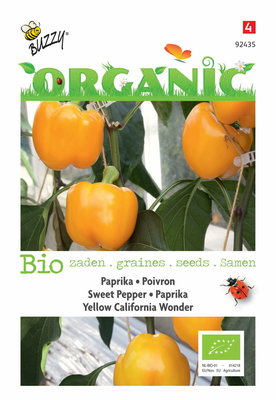 Biologische Paprika - Yellow California Wonder